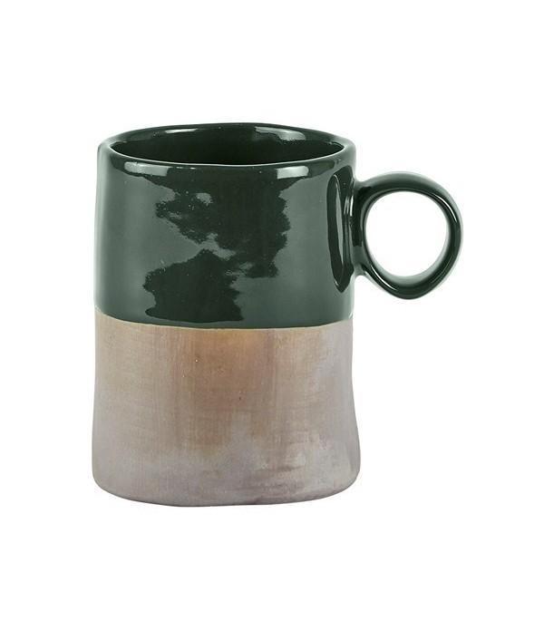 Beker 472069 - donkergroen - grijs