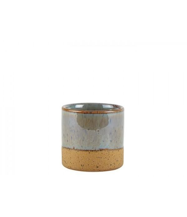Bloempot 472220 - grijsblauw  7,2 cm hoog