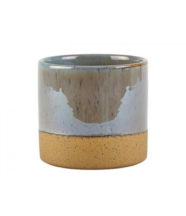 Bloempot 472222 - grijsblauw - 13 cm hoog
