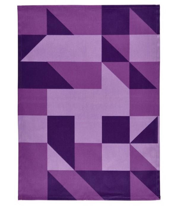 "Theedoek ""LINES"" purple"