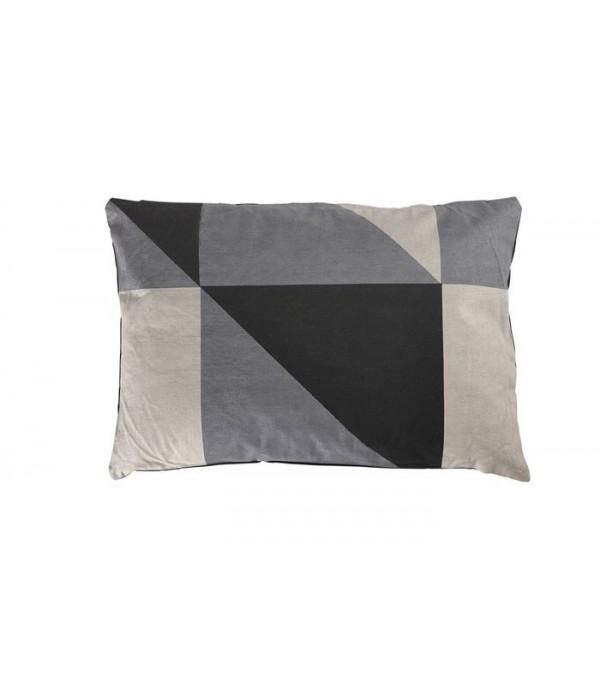 """Kussen """"LINES"""" grijs-zwart"""