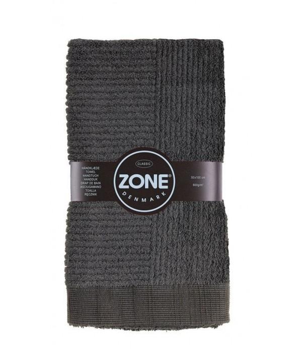 Handdoek CLASSIC charcoal grijs 50 x 100 cm