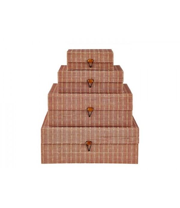 Voorraadbox 482102 - set van 4 stuks - rose