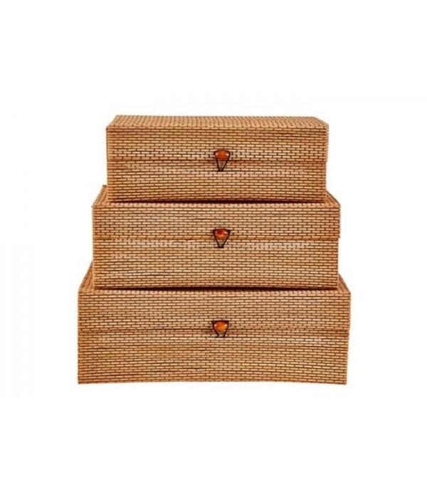 Voorraadbox 482103 - set van 4 stuks - naturel