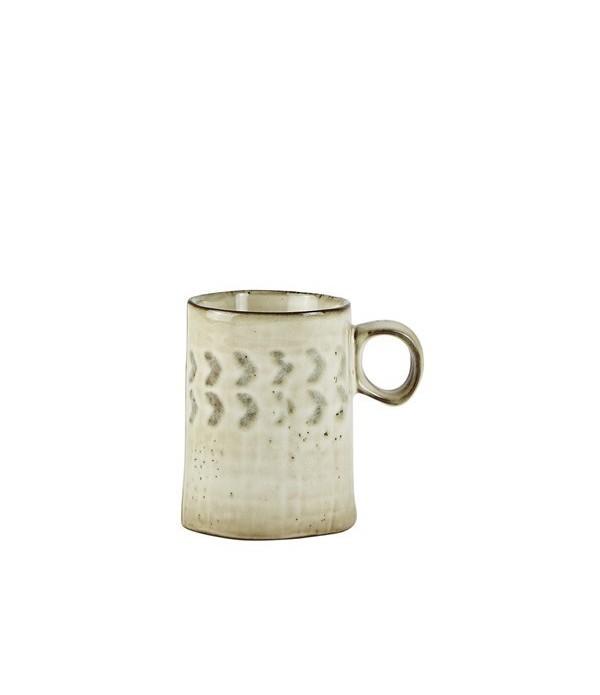 Beker 482375 - w. pattern - aardewerk- Sand - D 7,...