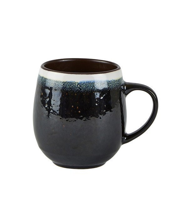 Beker 482425 - aardewerk- zwart - blauw - wit