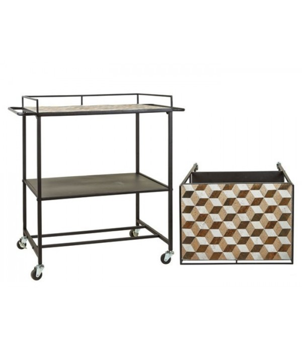 Bar 491111 trolley - w. mosaic top -