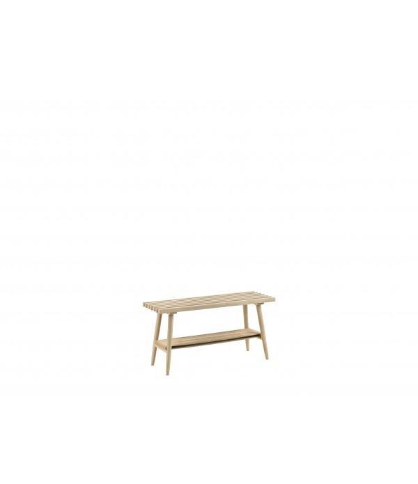 Bankje - Natuurlijk - Eik/Jute - 90x30x45 cm