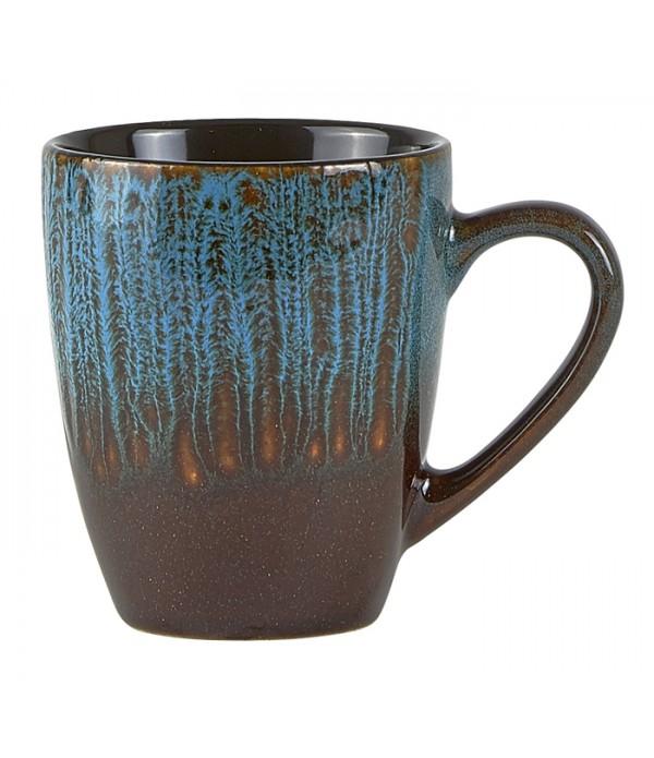Mok 172589 - aardewerk - blauw - bruin