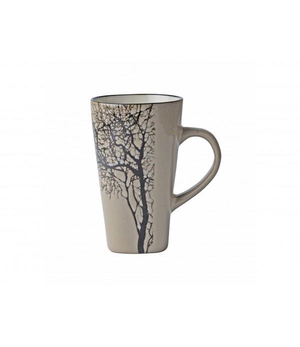 Beker - boom - aardewerk - bruin - 0,50 liter