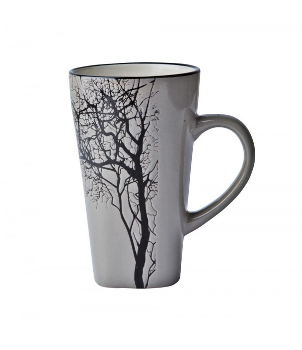 Beker 232143 - boom - aardewerk - grijs
