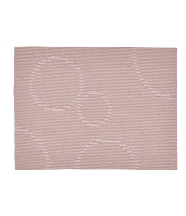 Placemat - circels - PVC - roze