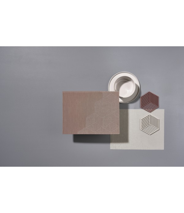 Placemat 382036 - Daisy - Zone Denmark - cool grijs - pvc - 40x30 cm