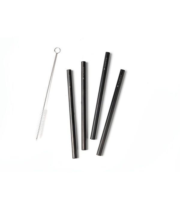 Rietjes 4 delig - 18/8 - zwart - 15cm