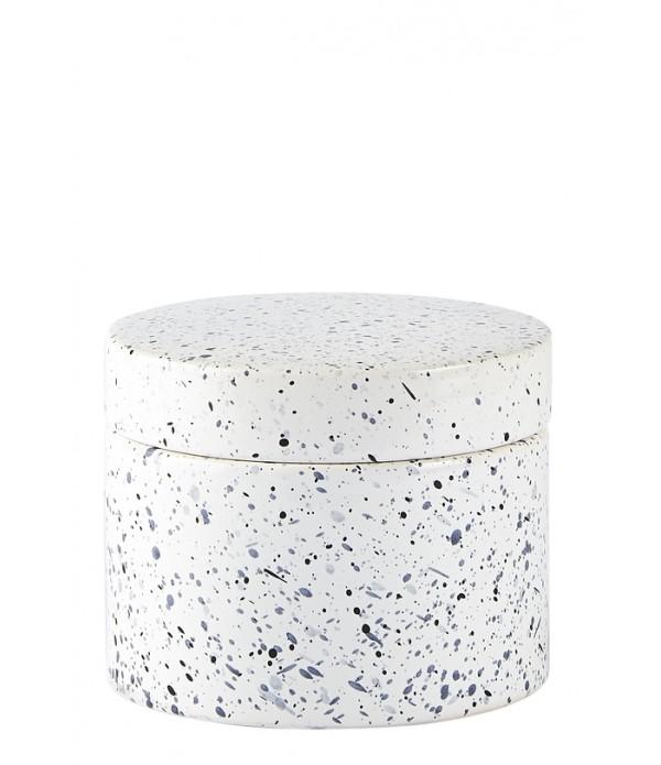 Pot - dolomiet/wit/blauw - D 11,8
