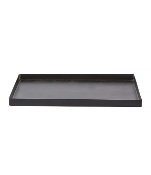 Kaarsenplateau - zwart - 22x22 cm