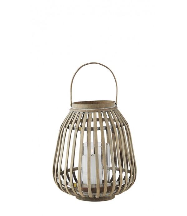 Lantaarn - bamboe - 30 cm