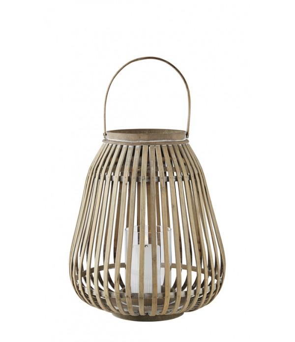 Lantaarn - bamboe - 35 cm