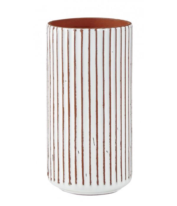 Bloempot - aardewerk- Natural - wit -  D 10,5cm - ...