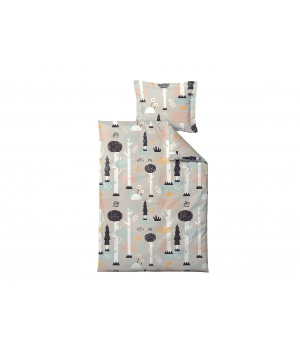 Dekbedovertrek - 100x140cm - Magisch Bos - Pastelk...