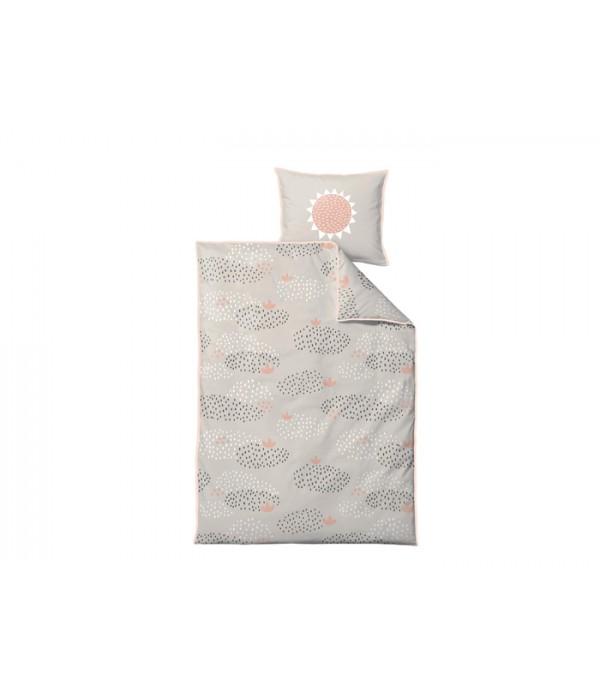 Dekbedovertrek - 100x140cm - Regendruppels - Paste...