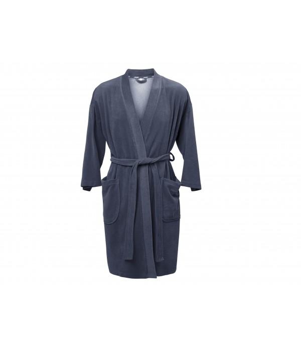 Badjas Soft S/M china blauw