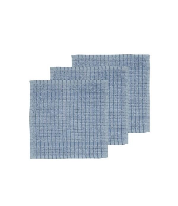 Gastendoekje set van 3 - 30x30 Simplicity sky blue