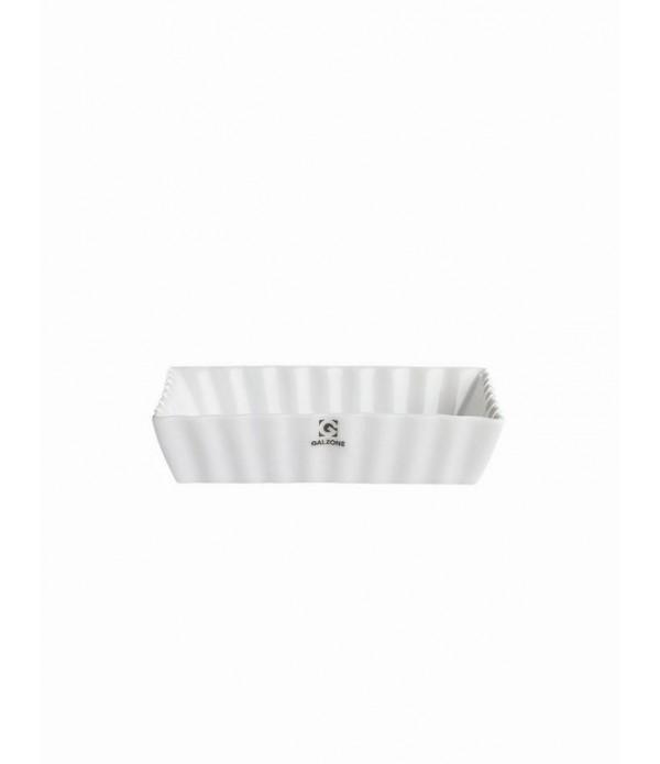 Bakvorm - wit - geribbeld - H 2,80 cm - L 12