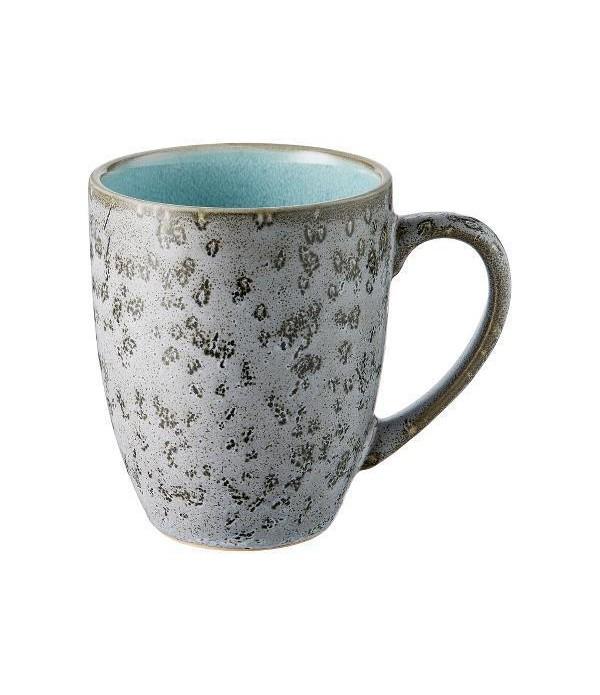 Mok 30cl met handgreep grijs/lichtblauw