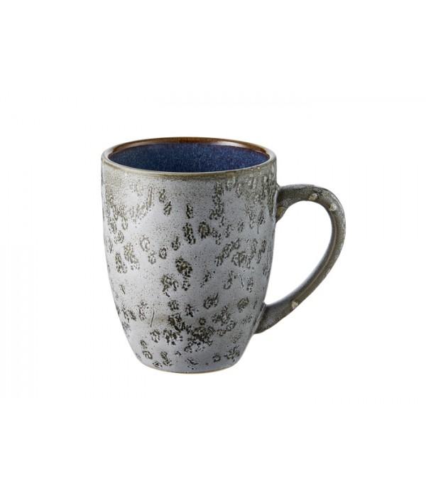 Mok 30cl met handgreep grijs/donkerblauw