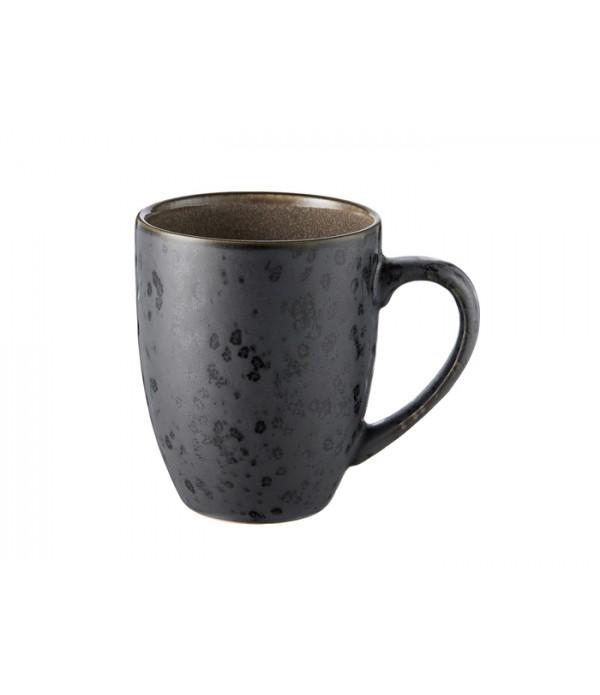 Mok 30cl met handgreep  zwart/grijs