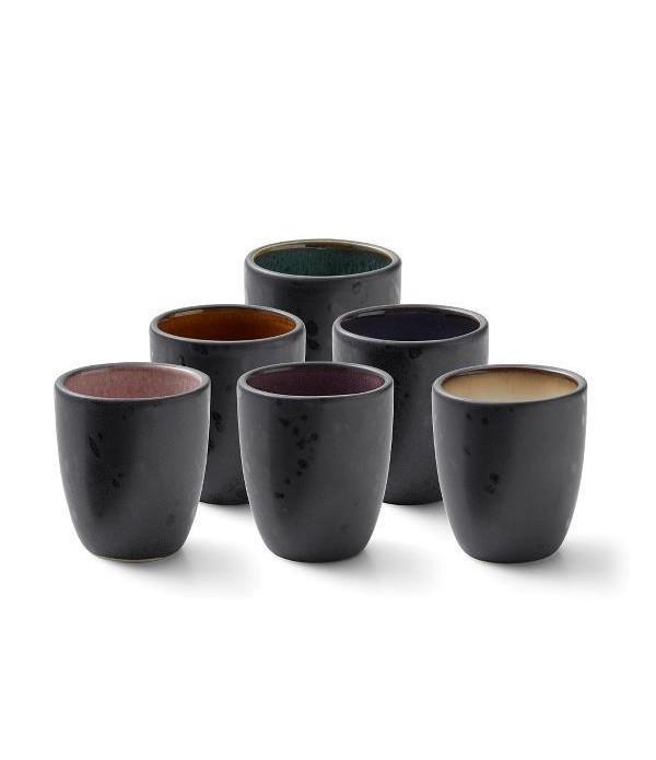 Espresso cups assorti kleuren, set van 6
