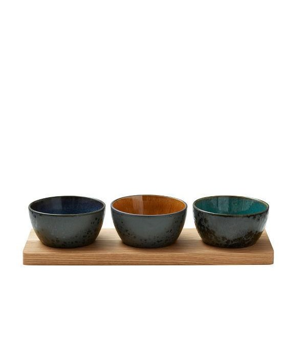 Amuseset Bitz zwart/amber-donkerblauw-groen