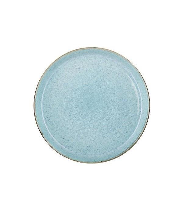 Bord dia 27cm grijs/lichtblauw