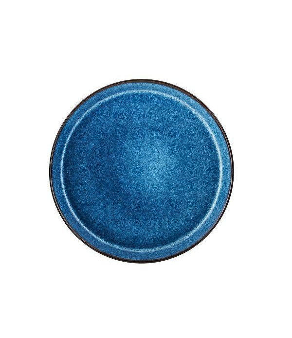 Bord dia 27cm zwart/donkerblauw