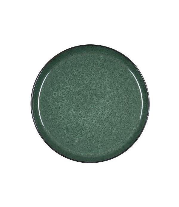 Dinerbord dia 27 cm zwart/groen