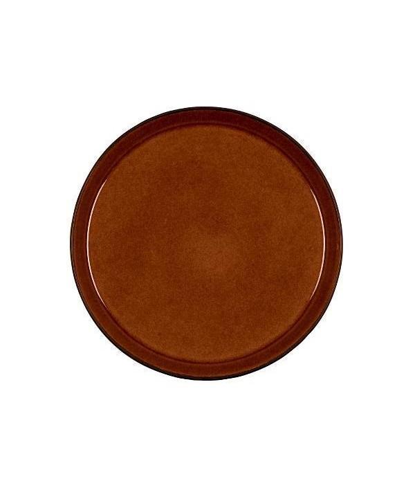 Dinerbord 27cm - Zwart/Amber