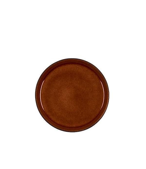 Ontbijtbord 21cm - Zwart/Amber