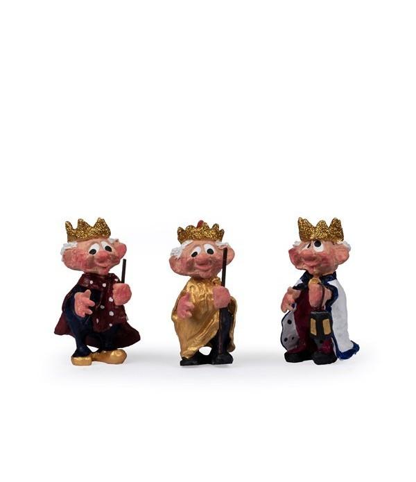Figuren, 3 koningen - Polyresin - H8,5 cm