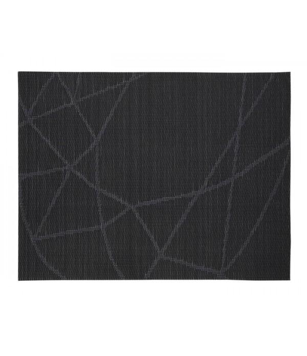 Placemat - zwart lijnen patroon
