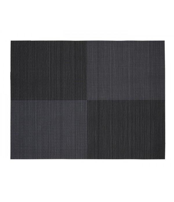 Placemat - zwart vierkant patroon