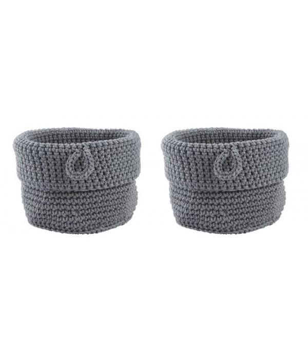 Mand Confetti set van 2 stuks - grijs