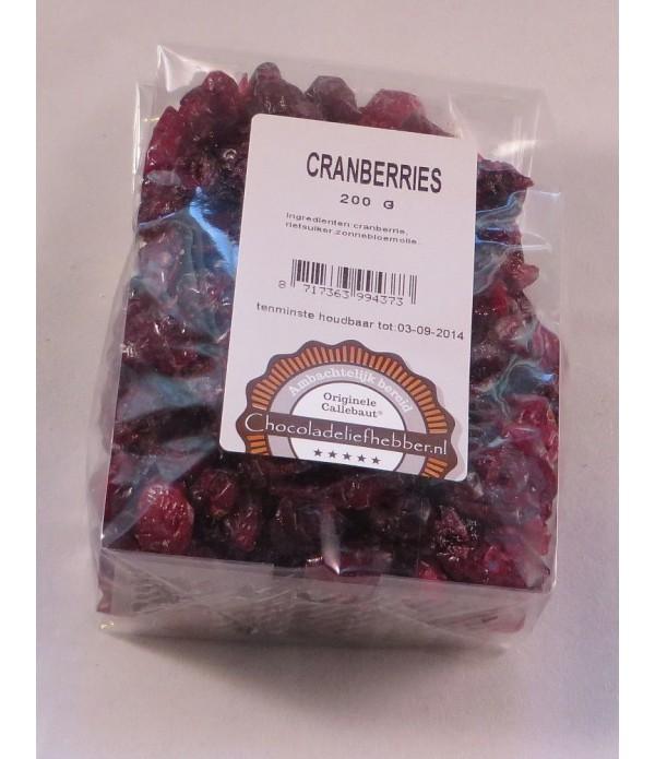 Cranberries Chocoladeliefhebber 200 gram