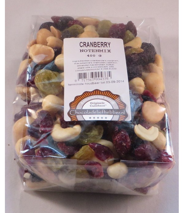 Cranberry notenmix 400 gram