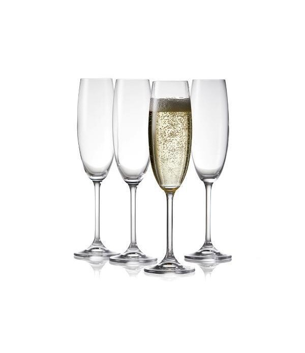 Champagneglas 2 delig - Helder
