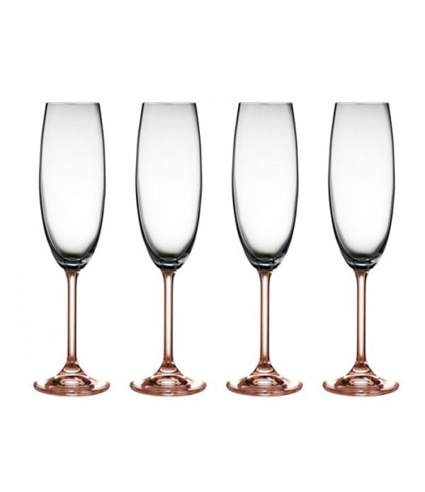 Champagneglas 4 delig Rose