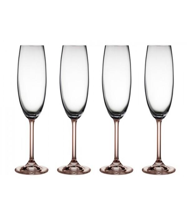 Champagneglas 4 delig Smoke