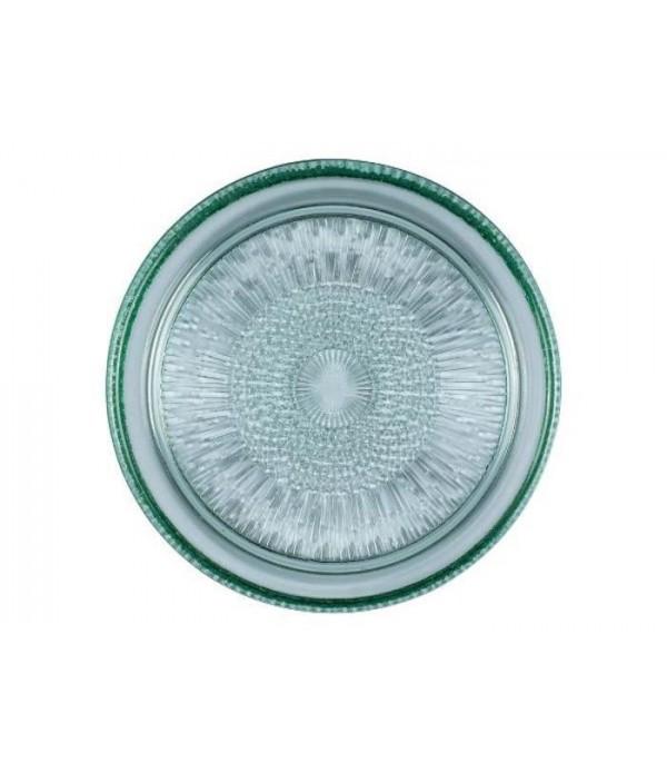 Glazen Bord Dia. 18 cm groen BITZ