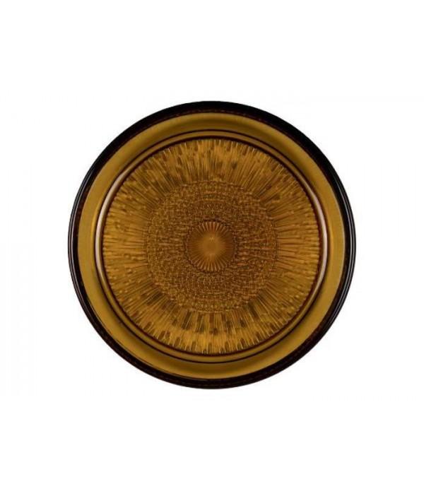 Glazen Bord Dia. 18cm amber BITZ
