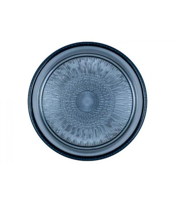 Glazen Bord Dia. 18 cm blauw BITZ